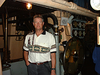 Jody Fugate touring the Jeremiah O'Brien 'Libery Ship'